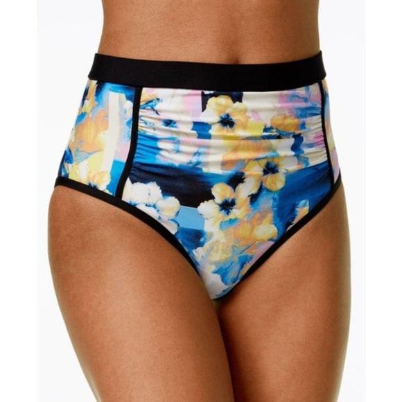12200e4e0d2fc Calvin Klein Geo Floral High-Waisted Bikini Bottom